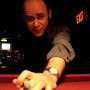 Candid Billiards Shot - Photographer Seth Olenick accosted Todd while he was playing -- make that hustling -- pool. When Todd isn't doing comedy he loves playing -- make that hustling -- pool. If you meet Todd on the road, feel free to challenge him to a round of pool, but keep this in mind: you will lose and you will be hustled.