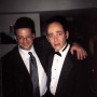 Todd in Tux - Here's a picture of Todd, standing next to his pal Andy Kindler, backstage at the Friar's Club Roast of Chevy Chase. Look at Todd's mock expression of surprise. If you could bottle that look, you would.